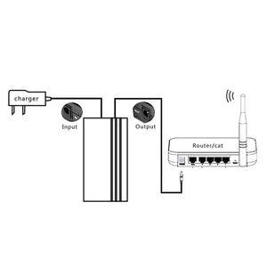 Image 2 - 12V2A 22.2 واط UPS دون انقطاع احتياطية امدادات الطاقة بطارية صغيرة للكاميرا راوتر تحويل التيار الكهربائي