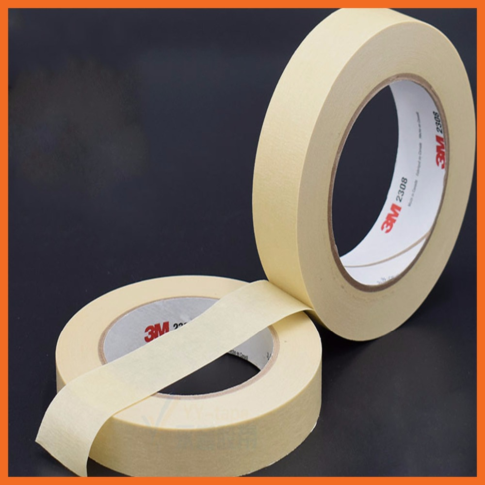 Custom Made 3M2214 Masking Tape Crepe Paper Decorative Mask Car Spray Shield Adhesive Seal Tape Traceless 80mmx164ft masking tape crepe paper sticky decorative adhesive tape traceless painting custom made 5 1220mm 20m x 4 rolls 80m