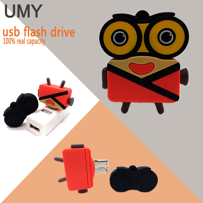 USB flash drive cartoon videotape player pen drive memory stick cute cinematography pendrive 4GB 8GB 16GB 32GB 64GB usb stick image