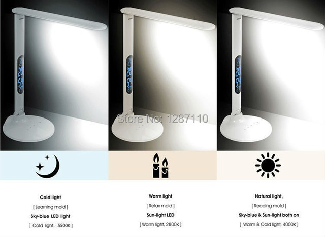 Eyesight protection LED table desk light lamp for reading bedroom 5 grade adjust lighting touch panel led desk light