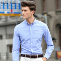 Vogue Anmi11Colors New Mens Shirts Casual Men's Luxury Dress Shirts Mens Slim Fit shirt Fashion For Men Brand Long Sleeve Shirts