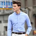 Vogue Anmi11Colors Nuevas Camisas del Mens Ocasionales de Los Hombres Camisas De Vestir De Lujo Mens Slim Fit camisa de La Manera Para Los Hombres de Marca de Manga Larga camisas