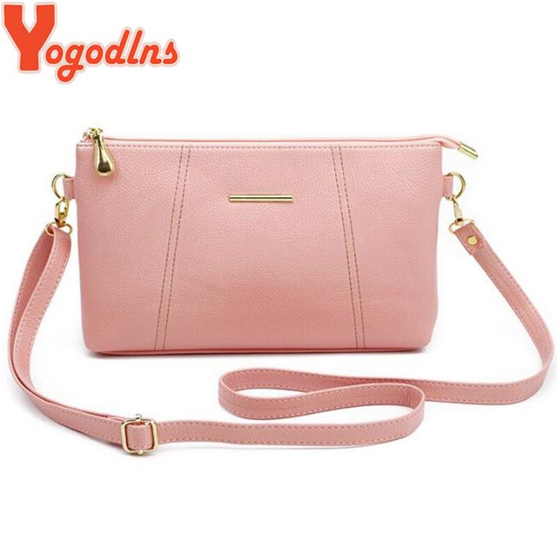Yogodlns Women PU Leather Shoulder Bags Simple Style Crossbody Bag Purse Female Handbags Small Flap Messenger Bag
