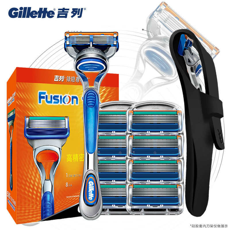 Original Gillette Fusion Shaver Razor Blade Replacement Head For Men Manual Face Care Safety Shaving Blades Holder Razor Blade