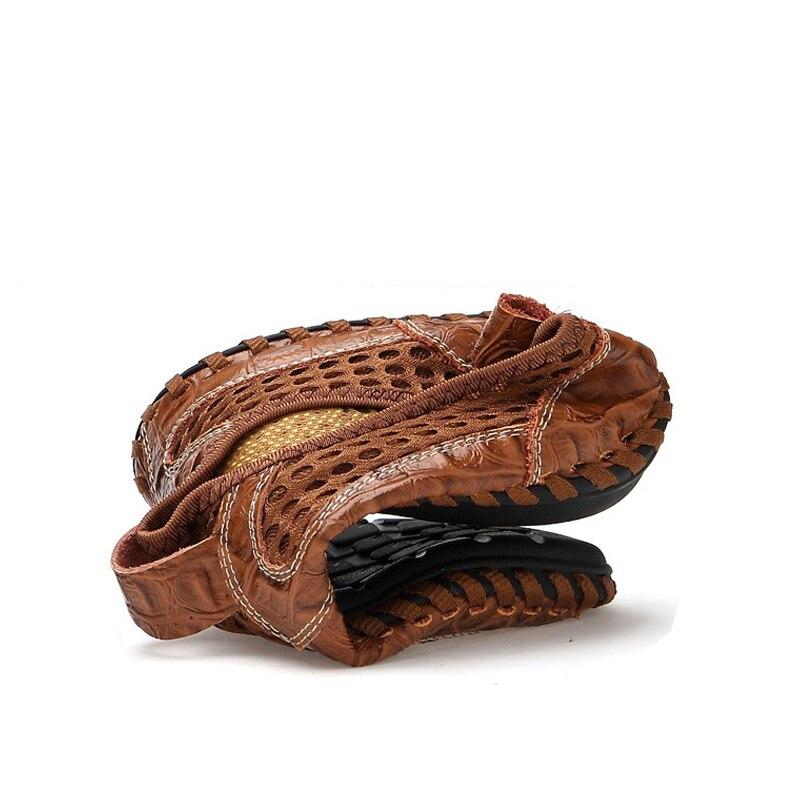 Oudiniao Respirant Hommes D'été bleu vert Mocassins marron Chaude Mâle Grandes Glissement Noir Casual Doux 2018 Chaussures Tailles Sur Des Designers Vente Mesh ggqzdr