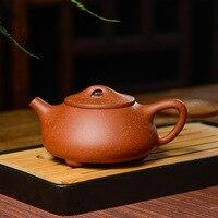 Authentische Yixing berühmte reine handgemachte lila ton teekanne original erz drachenblut sand teekanne Kung Fu ball loch teekanne 210 ml
