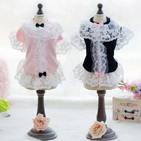 Embroidery Floral Wedding Dresses Dog Dress Princess Fair Lady Dresses Pet Clothes For Dogs Cats Dog
