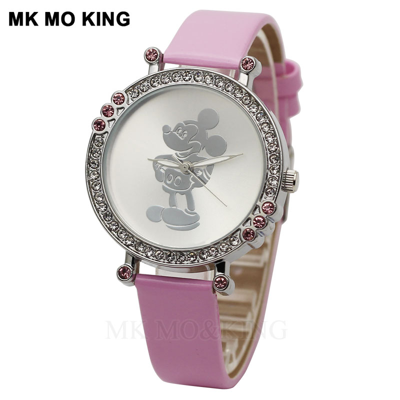 Luxury Kittyed Rhinestone Fashion Children's Boys Girls Kids Quartz Wrist Cute Watch Clock Gifts Bracelet Reloj Synoked Brand Mk