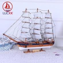 LUCKK 70 60 CM Simon Bolivar DIY Wooden Model Ships Creative Home Interior Wood Decoration Accessories Crafts Mediterrean Style