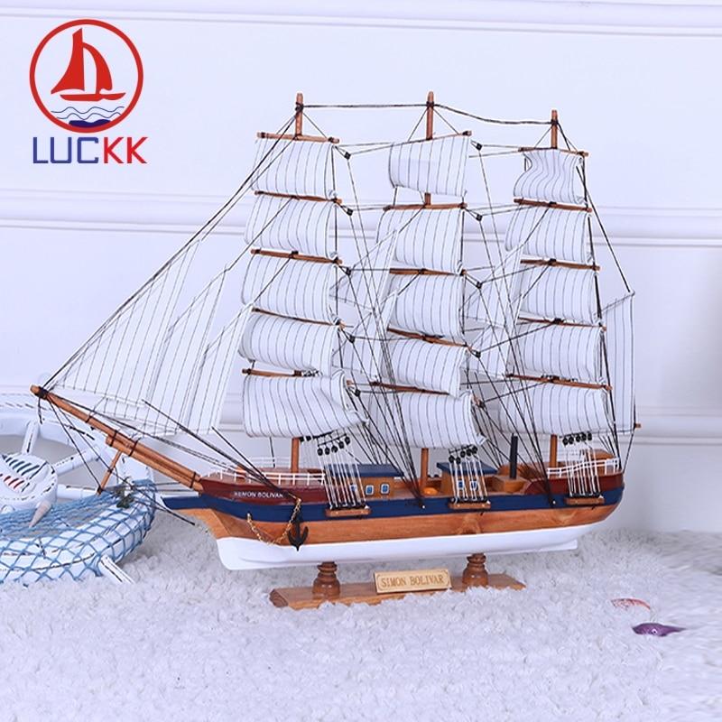 Lucky 70 60 CM Simon Bolivar bricolage en bois modèle navires créatifs maison intérieur bois décoration accessoires artisanat livraison gratuite