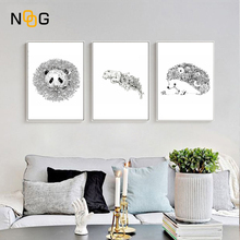 NOOG Surreal animals panda tiger Canvas Art Print Painting Poster Wall Pictures For Living Room Home Decoration Decor No Frame