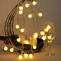 Hot Sale Outdoor Lighting USB Operated Small Ball Decorations Led String Light Creative Festival Starry Christmas