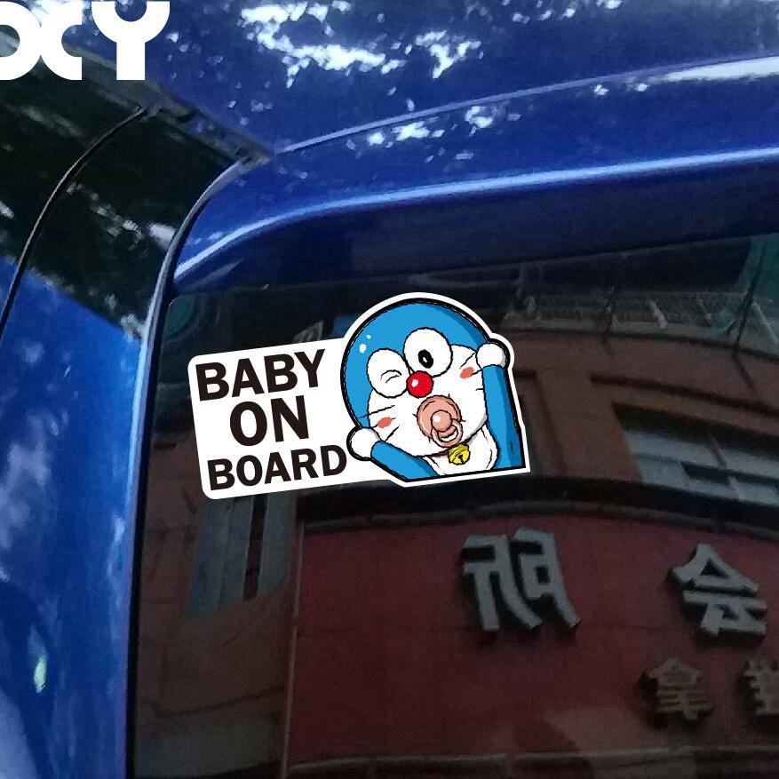 Hot Selling Car-Styling Anime Car Stickers Vinyl Decal Baby on Board Baby in Car Window Rear Windshield Cute Car Sticker
