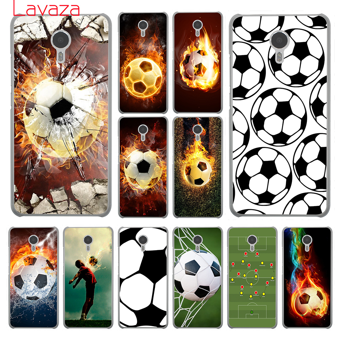 Lavaza Fire Football Soccer Ball Hard Phone Case for Meizu M6 M5 M5C M5S M3 M3S M2 Note Mini Pro 7 Plus 6 U10 U20 Cover