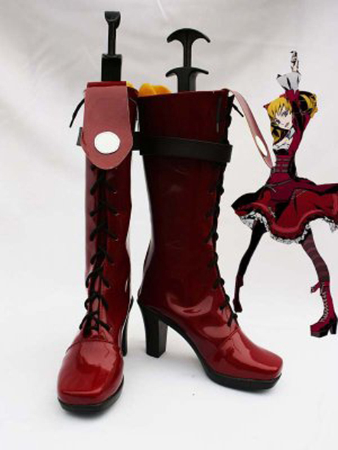 Unlight Scarlet Queen Donita Halloween Cosplay Boots Shoes Game Party  Cosplay Boots Custom Made for Adult