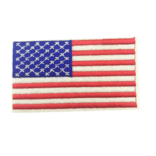 1pcs 4.5*8.0cm USA American Patch US United States Flag Embroidered Patches Iron on Clothes Stickers Apparel