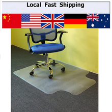ship from us 1pc lipped office chair desk tshaped carpet protector mat pvc clear with grips