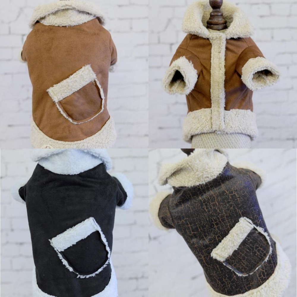 winter warm lamp Suede Dog coat clothing for small dog pet cat cotton padded clothes jacket Chihuahua dog puppy hoodie clothes