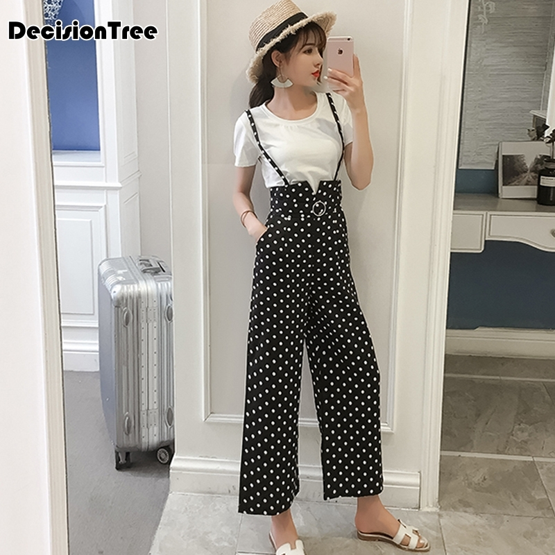 2019 summer strap sexy jumpsuits women rompers belt bow lace up buttons casual wide leg pants jumpsuit overalls white