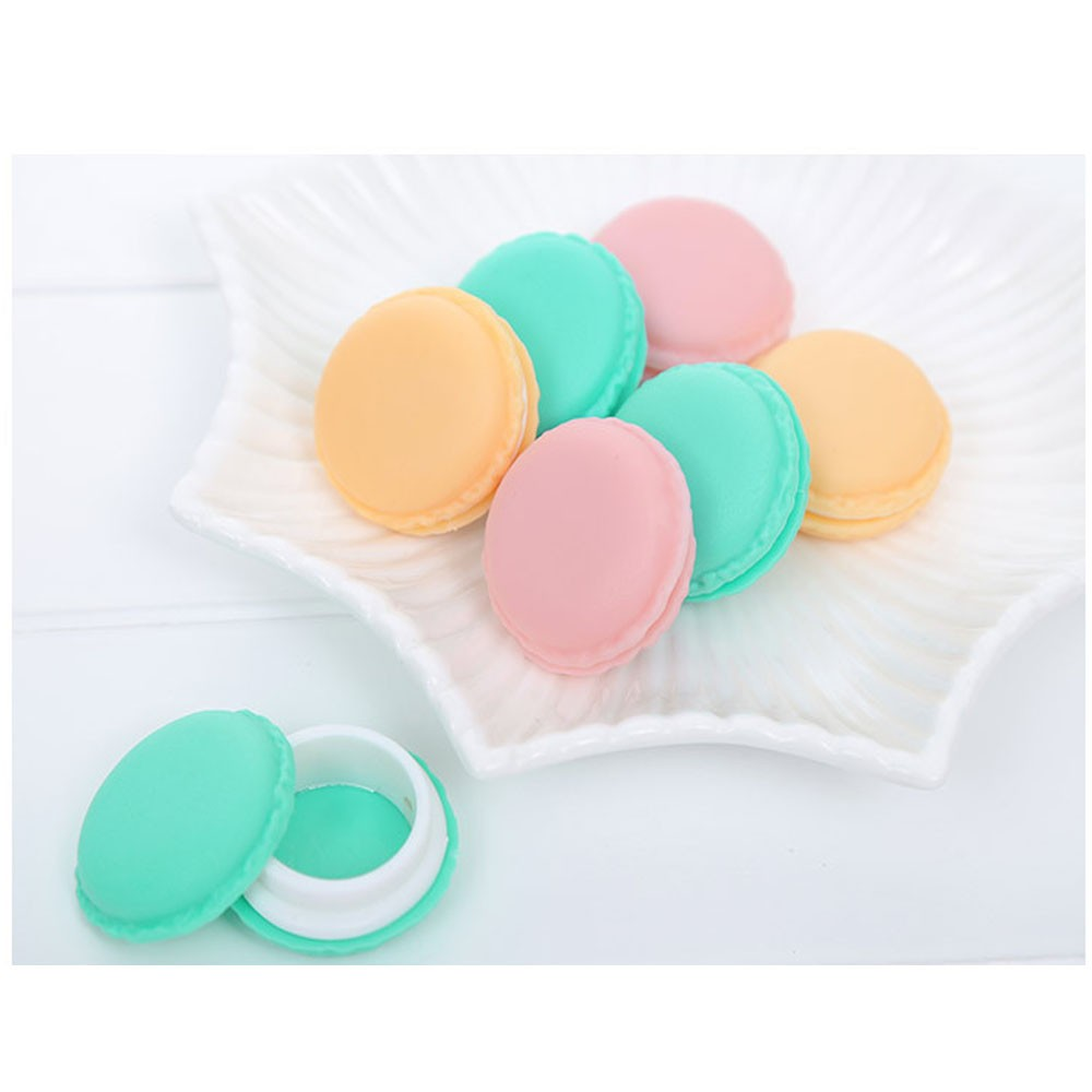 Portable Candy Color Mini Cute Macarons Jewelry Ring Necklace Carrying Case Organizer Storage Box for Cover Earrings Pills