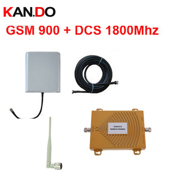 Dual band repeater BOOSTER GSM 900Mhz Booster+DCS Repeater dual band DCS booster kits w/ cable &antennas,dual band GSM booster фото