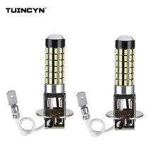 TUINCYN 2 pz 6000 k Bianco H3 H1 LED Lampadine di Ricambio Per Luci di Nebbia, giorno di Guida Corsa e Jogging Luci Lampade luci anabbaglianti