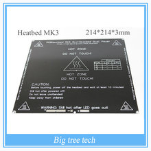 Color negro nueva alu-heatbed mk3 reprap 3d pcb impresora heatbed reprap mk3 cama calor mk2b dual power