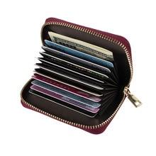 Naiste tõmblukk krediitkaardi hoidja Ehtne nahast mooduskaardi omanik S584 kõrge kvaliteediga naiste naiste padjakaardid rahakott