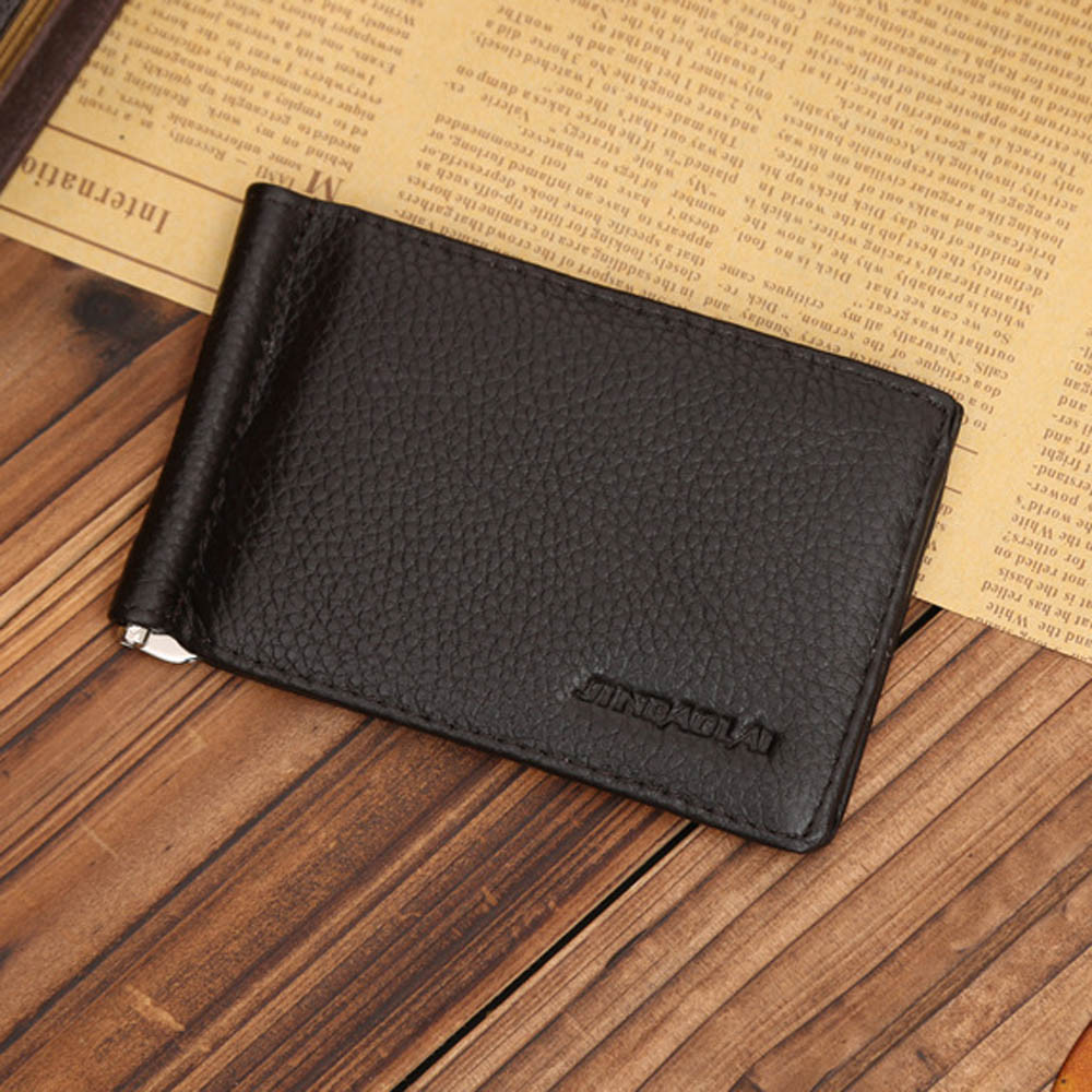 b994557b6696 US $4.66 14% OFF|2015 Hot Sale, High Quality Ultra Slim Men's Leather  Bifold Money Clip Wallet ID Credit Card Case porte monnaie-in Money Clips  from ...