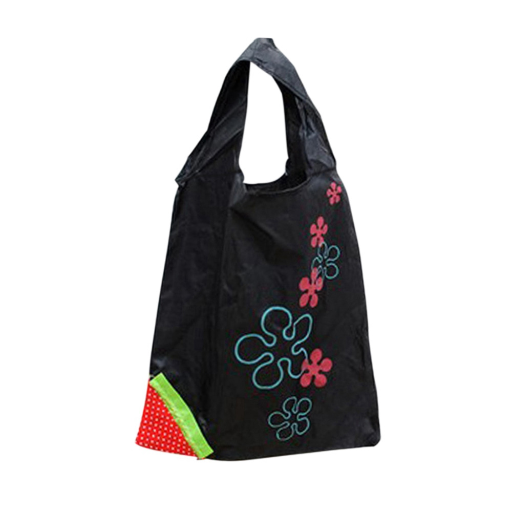 Promotional Sale 1 Piece Eco Storage Handbags Strawberry Foldable Shopping Tote Reusable Shopping Bag Grocery Bags bag wholesale eco reusable shopping bags cloth fabric grocery packing recyclable hight simple design healthy tote handbag trendy