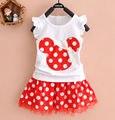 0-4Y Minnie Mouse Bebé Niños Niñas Princesa Ropa de la Historieta Del Partido Del Mini Vestido