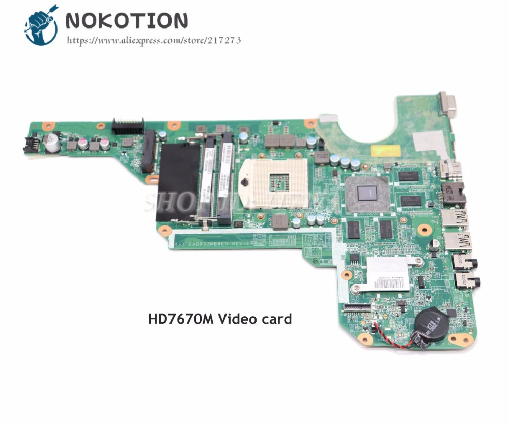 цена на NOKOTION For Hp Pavilion G4 G4-2000 G6 G6-2000 G7-2000 Laptop Motherboard HD7670M 680569-501 680569-001 680570-001 680570-501