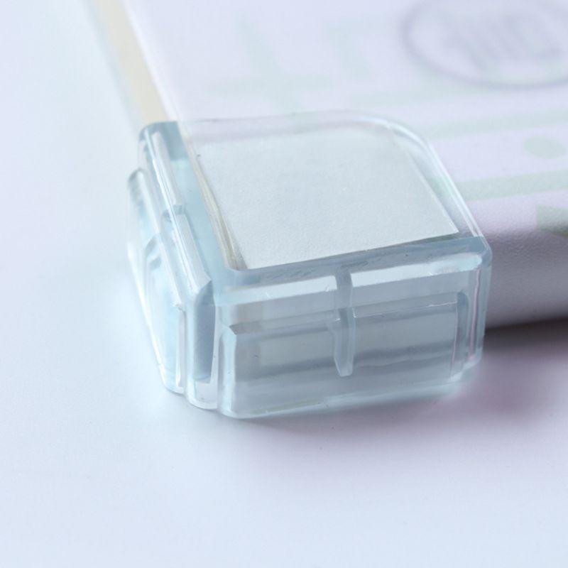 10 pièces/ensemble coin de sécurité bébé Protection armoire Table bureau protecteur garde Silicone souple bord tampons Transparent à angle droit