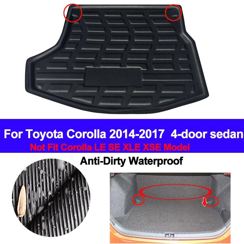 Car Boot Pad Carpet Cargo Mat Trunk Liner Tray Floor Mat For Toyota Corolla 2014-2015-2016