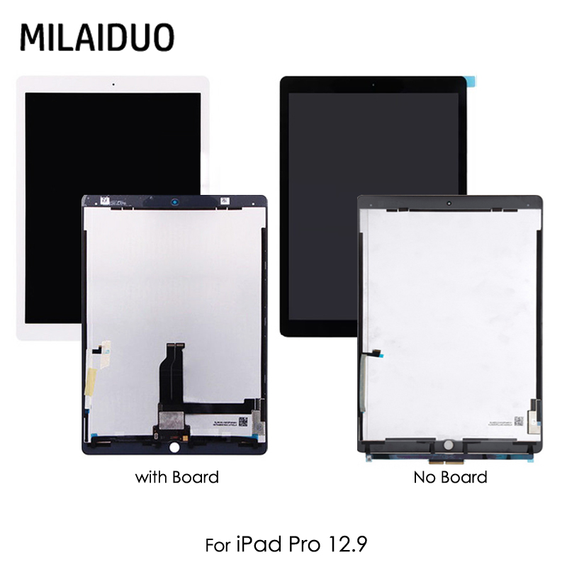 Tablet LCD Display For iPad Pro A1652 A1584 12.9 inch Assembly Touch Screen Panel with Small Board Black White ML0F2LL EMC2827 original for ipad pro 12 9 inch lcd display touch screen digitizer assembly for ipad pro 12 9 a1652 a1584 with oem board