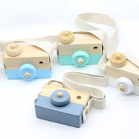 Baby Kids Cute Wood Camera Toys Children Room Wall Decoration Fashion Safe Natural Toys Birthday Christmas