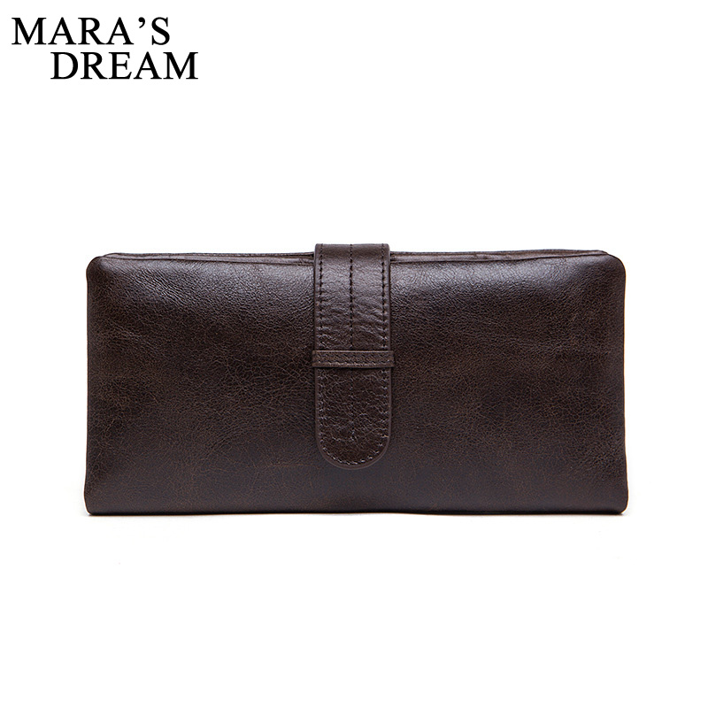 Mara's Dream Genuine Leather Men Wallets Leather Fashion Man Long Wallet Men's Coin Purse Male Casual Clutch Bag Hand Bag Wallet yinte genuine leather men wallets double zipper male wallet men purse fashion male long phone wallet man s clutch bags 1611 3