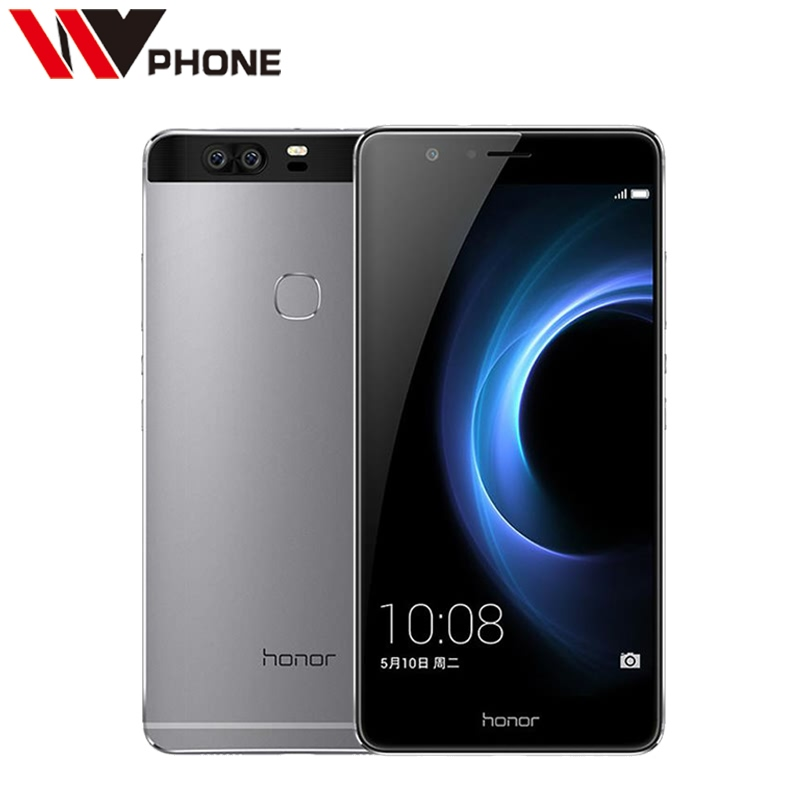Original Huawei Honor V8 4G LTE Mobile Phone Octa Core 4G RAM 64G ROM 5.7 Inch Dual Rear 12.0MP Camera CellPhone
