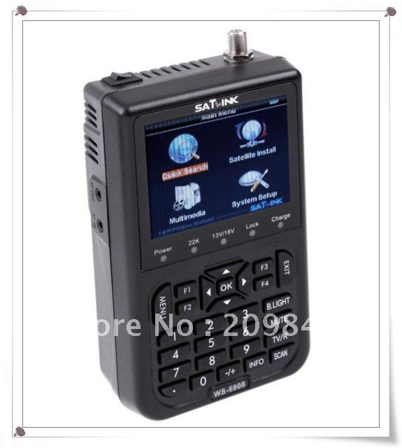 "free shipping SATlink WS-6908 3.5"" DVB-S FTA Professional Digital Satellite Signal Finder Meter ws6908,SF00004"