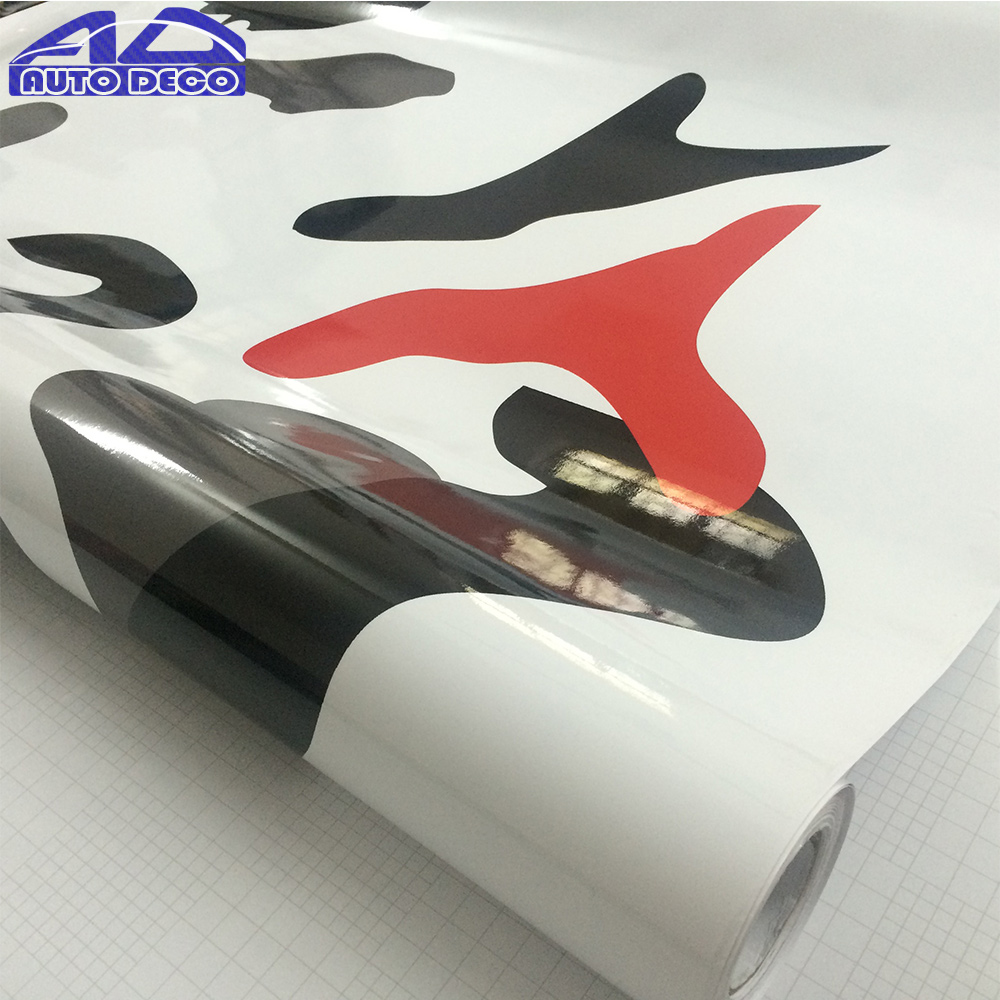 Camo adhesive vinyl truck graphics full body car sticker camouflage vinyl car wrap camouflage foil 1 5230m roll