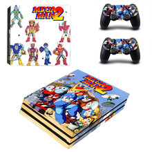 Game Mega Man 2 II PS4 Pro Skin Sticker Decal for PlayStation 4 Console and 2 Controllers PS4 Pro Skin Sticker Vinyl(China)