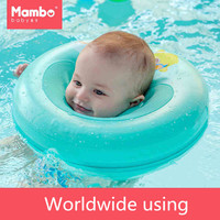 Mambobaby Neck Float Circle For Bathing No pump air Safety Swimming Ring Free inflatable collar Quality Baby Neck Swimming Ring