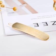 Женские простые заколки для волос chimera золотистые овальные