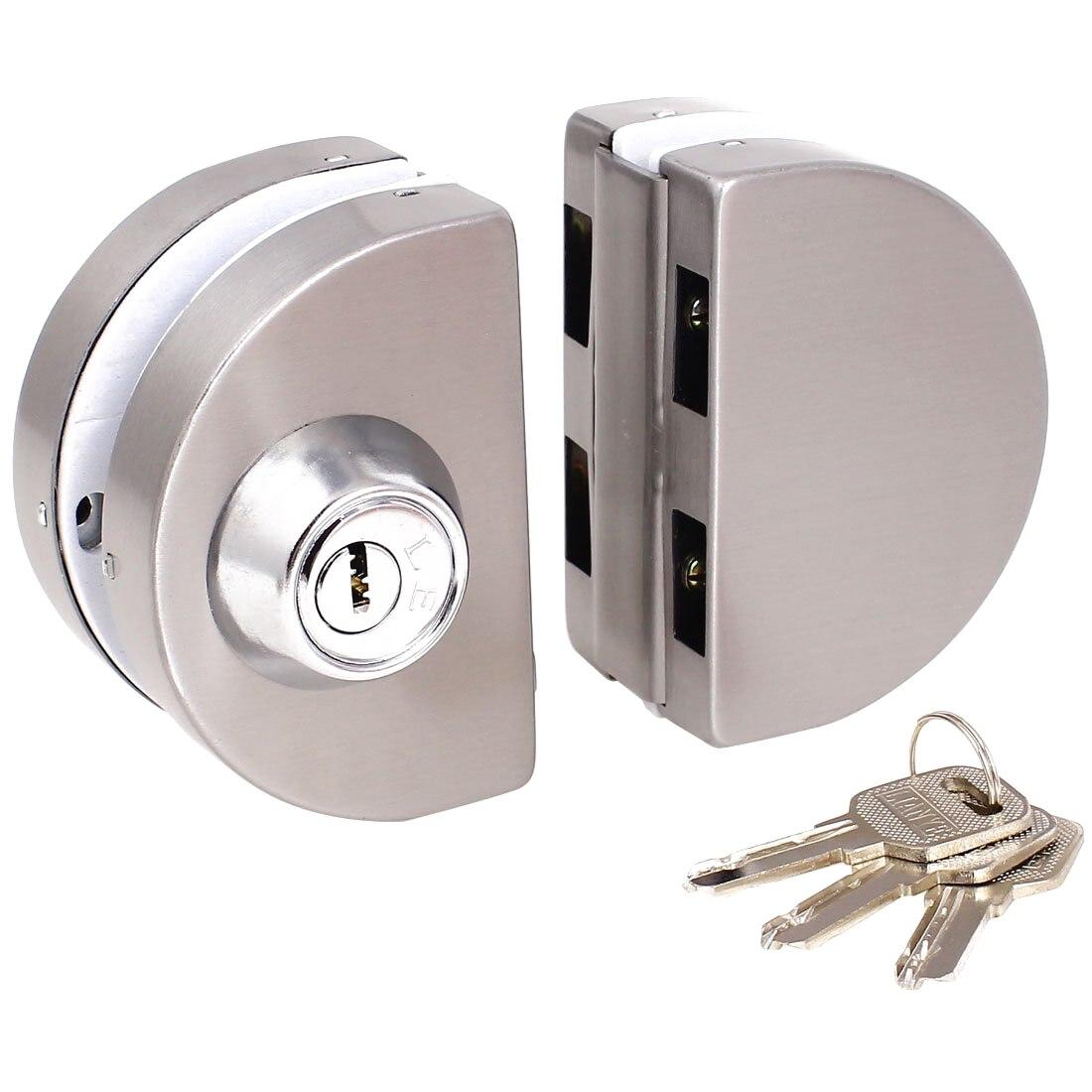 Entry Gate 10-12mm Glass Swing Push <font><b>Sliding</b></font> Door Lock with Keys