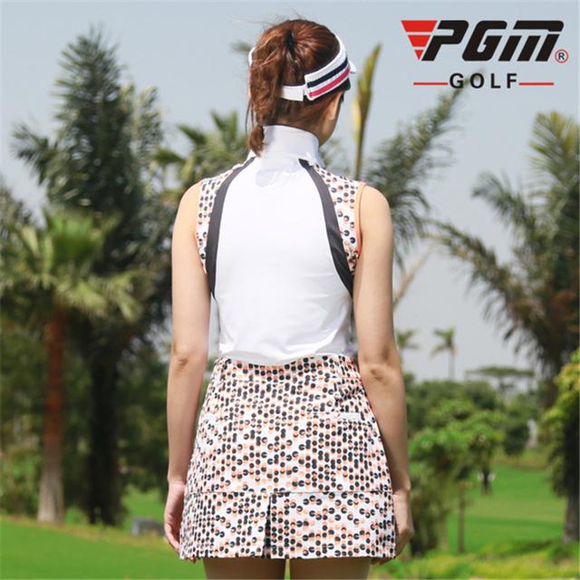 Golf Women Summer Sleeveless Shirt Set Sportwear Skirts Set
