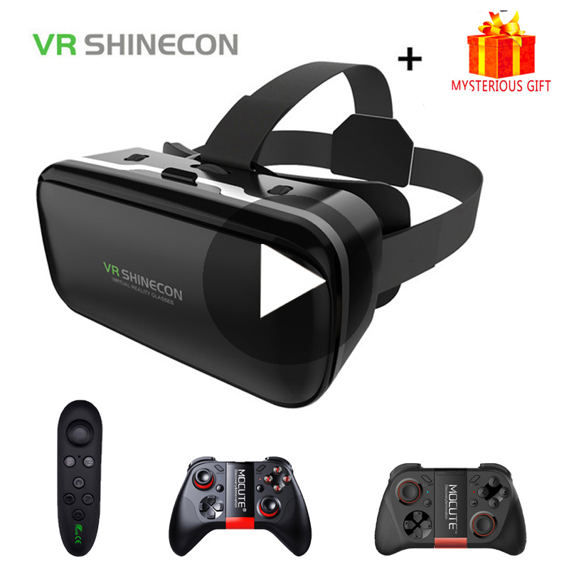 Shinecon 6.0 Casque VR Box Virtual Reality Glasses 3 D 3d Goggles Headset Helmet For Smartphone Smart Phone Google Cardboard Len smartphone