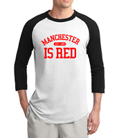 Hot Sale The United Kingdom Manchester Is Red 3 4 Sleeve T Shirt Men 2017 Summer