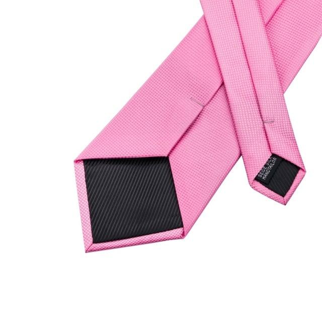 SN-401 New Style Solid Tie Men's 100% Jacquard Woven Neckties Handkerchief Cufflinks Set for Men's Formal Wedding Party Groom 4