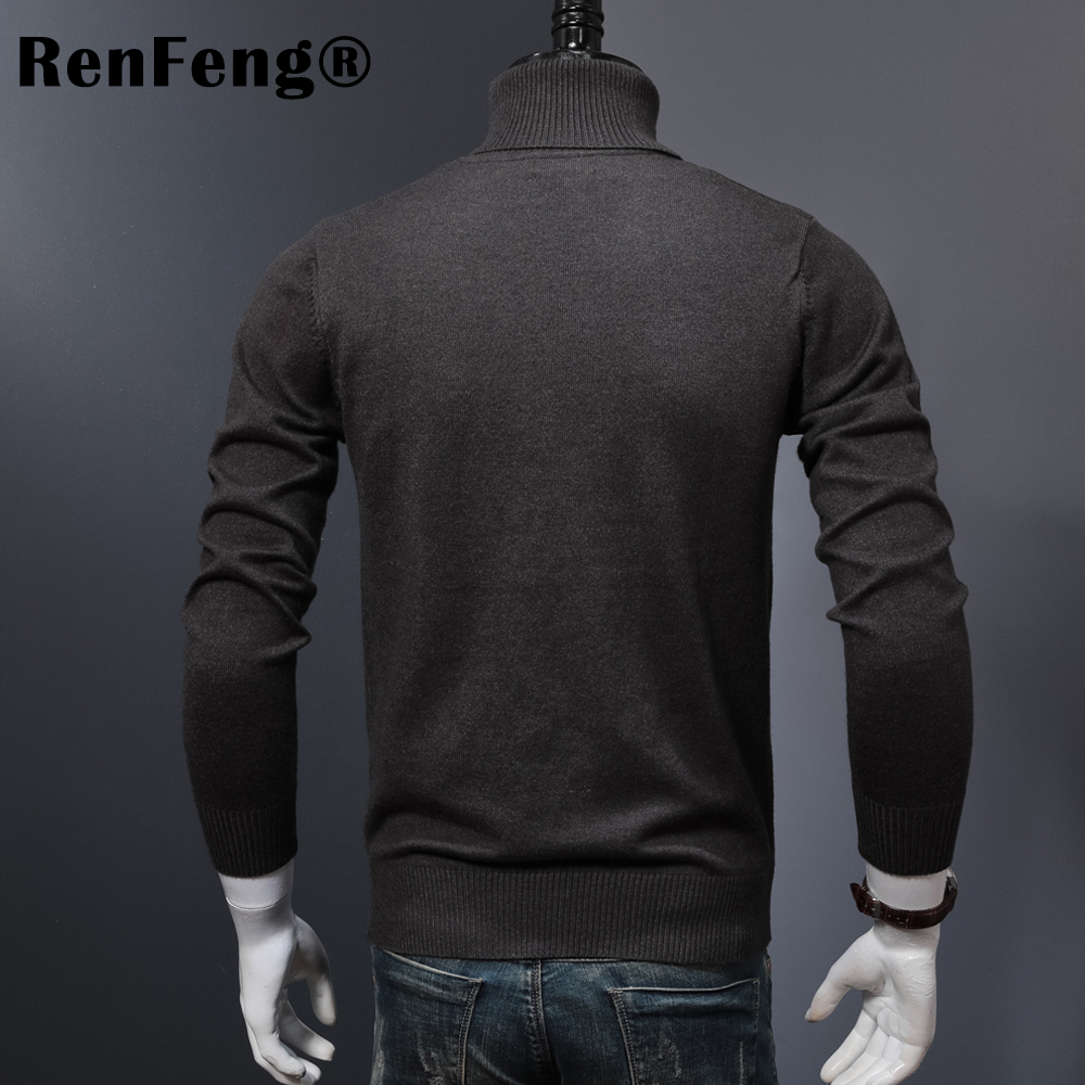 Winter Thick Warm Cashmere Sweater Men Turtleneck Mens Sweaters 2018 Slim Fit Pullover Men Classic Wool Knitwear Pull Homme (1)