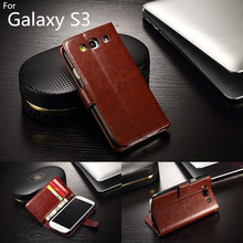 For Samsung s3 Case card holder cover case for samsung galaxy S3 i9300 leather phone case ultra thin wallet flip cover